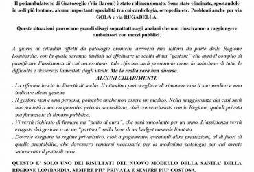21/11/2017 No alla chiusura del Poliambulatorio di via Ripamonti
